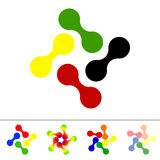 Set of five abstract icons Stock Photo