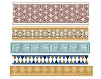 Set of  five Babylonian designs Stock Images