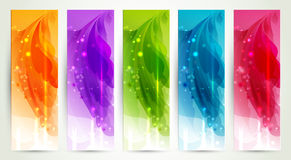 Set of five banners Stock Photos