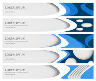 Set of five banners, can be used for web design Royalty Free Stock Photo