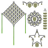Set of five bell wind chimes Royalty Free Stock Photography