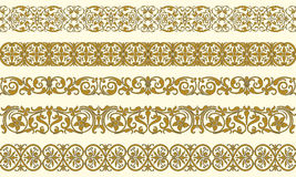 Set of five decorative borders Royalty Free Stock Photography