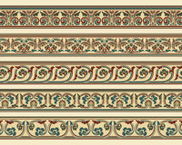 Set of five decorative borders Royalty Free Stock Images