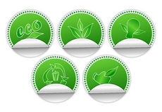 Environment Friendly Stickers Royalty Free Stock Photos