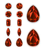 Set of five forms of Spinel Royalty Free Stock Images