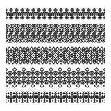 Set of five geometric decorative elements Stock Photo