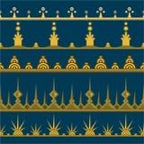 Set of five golden paterns stock illustration