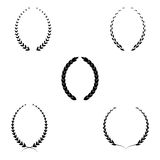 Set of five laurel wreaths stencil. Laurel Wreaths VectorSet of five laurel wreaths stencil on a white background Stock Photo