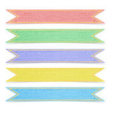 Set of a five mulberry paper ribbons Royalty Free Stock Photos