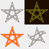 Set of five-pointed stars Stock Photo