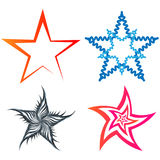 A set of five-pointed stars Royalty Free Stock Photography