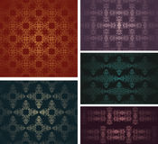Set of five samples of vintage wallpaper Stock Photography