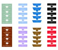 Set of Five Stage in Qualitative and Quantitative Research Process. Royalty Free Stock Photo