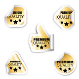 Set of five stickers - premium quality Stock Image