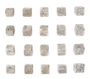 Set of five whiskey granite stones Stock Photography