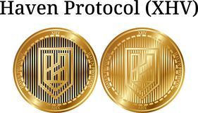 Set fizyczny złoty menniczy przystań protokół XHV ilustracja wektor
