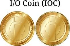 Set fizyczny złoty monety I-O monety IOC Fotografia Stock