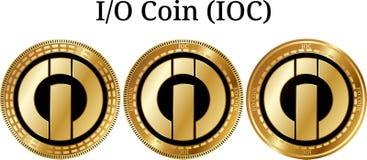 Set fizyczny złoty monety I-O monety IOC Zdjęcie Royalty Free