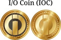 Set fizyczny złoty monety I-O monety IOC Zdjęcia Royalty Free