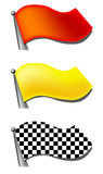 A set of flag. In vector, illustrator format Royalty Free Stock Photography