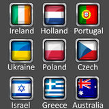 Set of flag icons Stock Image