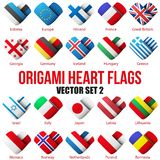 Set Flag icons in the form of heart. I love it. Stock Images