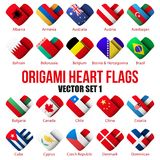 Set Flag icons in the form of heart. I love it. Royalty Free Stock Image