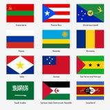 Set flaga światowi suwerenne państwa. Wektor Zdjęcie Stock