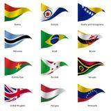 Set flaga światowi suwerenne państwa wektor ilustracja wektor