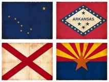 Set flaga od Północna Ameryka ilustracja wektor