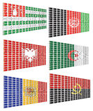 A set of flags 1 Royalty Free Stock Photography