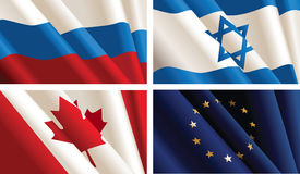 Set of flags. Stock Photos