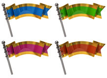Set of flags Royalty Free Stock Photo