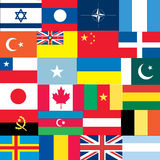 Set of flags Stock Images