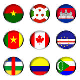 Set of Flags 4 Royalty Free Stock Photos