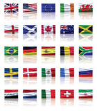 Set of Flags Stock Photo