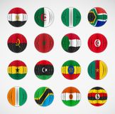 Set of flags Royalty Free Stock Images