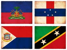 Set of flags from Central America #2 Stock Photo