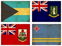 Set of flags from Central America #3 Stock Images