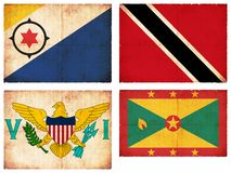 Set of flags from Central America  Stock Images