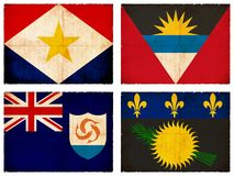 Set of flags from Central America  Stock Photography