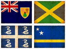 Set of flags from Central America  Royalty Free Stock Photography
