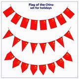 Set with flags China. Bright set with flags China for holidays. Illustration with white background royalty free illustration