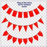 Set with flags China. Bright set with flags China for holidays. Vector illustration with transparent background royalty free illustration