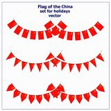 Set with flags China. Bright set with flags China for holidays. Vector illustration with white background vector illustration