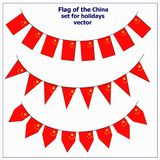 Set with flags China. Bright set with flags China for holidays. Vector illustration with white background royalty free illustration