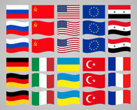 Set of flags countries in the world. vector illustration Stock Photo