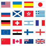 Set of 20 flags Stock Images