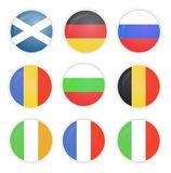 Set of flags, Europe, Collection. Royalty Free Stock Images