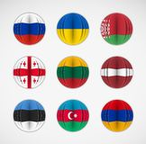 Set of flags Stock Photos